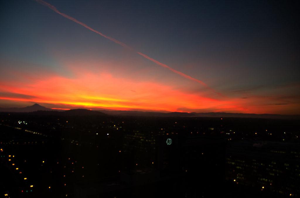 winter sunrise portland